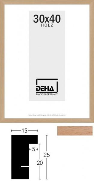 Deha Holz-Wechselrahmen Profil A25 Buche