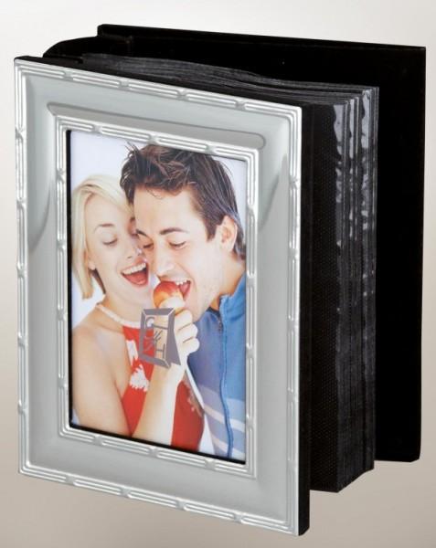 Fotoalbum Kreuzband, (100) glänzend versilbert