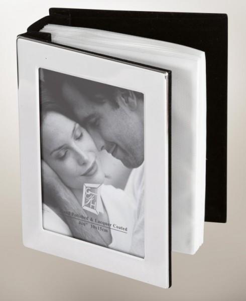 Fotoalbum glatt, (100), glänzend versilbert