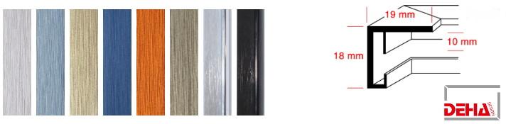 Aluminium-Bilderrahmen Profil 6 (Deha)