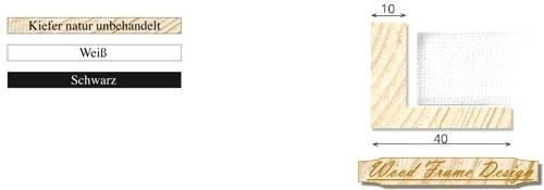 Holz-Schattenfugenrahmen P2/10 (Wood Frame Design)