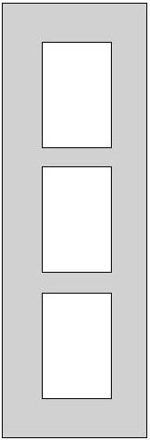 Galerie-Passepartout - Außenformat 20 x 60 cm
