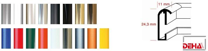 Aluminium-Bilderrahmen Profil 10 (Deha)