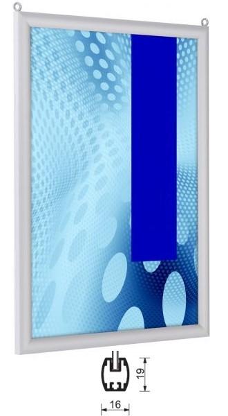 Plakat-Einschubrahmen für Deckenabhängung