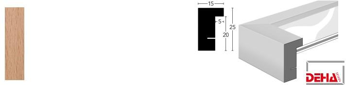 Holz-Bilderrahmen Profil A25 Buche (DEHA)