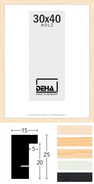 Deha Holz-Wechselrahmen Profil A25