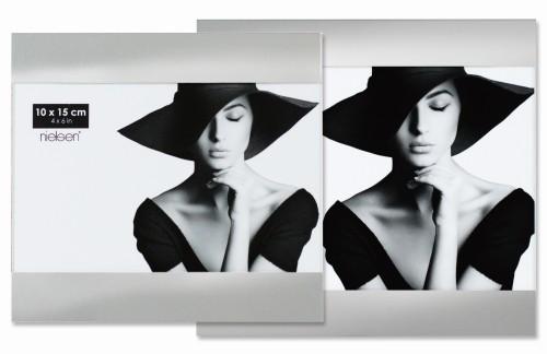 Portraitrahmen silber – seitlich offen