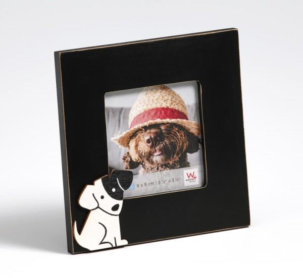 Portraitrahmen Hund, schwarz