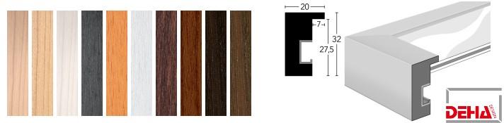 Holz-Bilderrahmen Profil 2032 (DEHA)