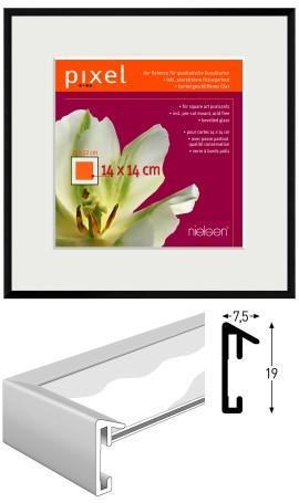 Nielsen Aluminium-Bilderrahmen PIXEL mit Passepartout