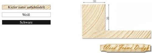 Holz-Schattenfugenrahmen P3/30 (Wood Frame Design)