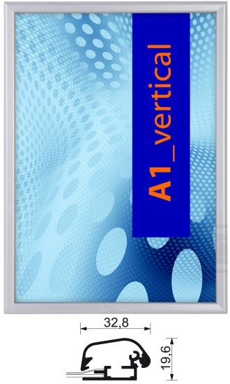 Aluminium-Klapprahmen 32 mm mit Sicherheitsverschluß