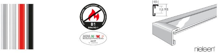 B1 Brandschutz-Bilderrahmen Classic (Nielsen)