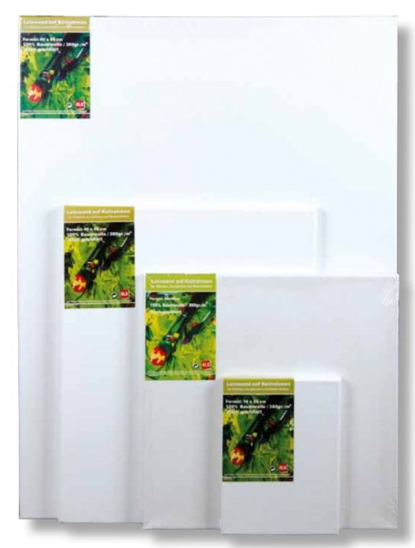 Ramendo® Leinwand auf Keilrahmen 30x30 cm (380g/m²)
