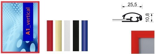 farbige Klapprahmen 25mm