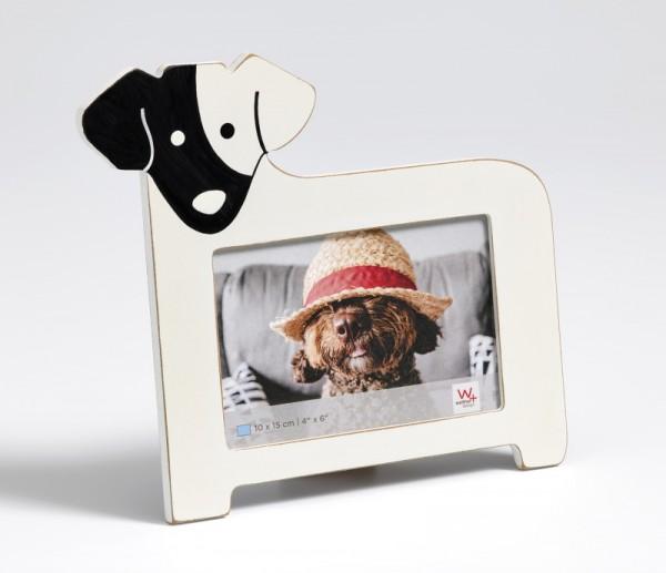 Portraitrahmen Hund, weiß
