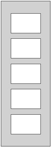Galerie-Passepartout - Außenformat 24 x 70 cm