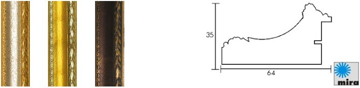Holz-Bilderrahmen Profil 31 (Mira)