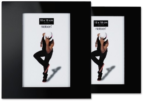 Portraitrahmen schwarz – Glas