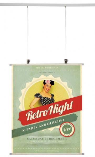 Kunststoff-Klemmleisten-Set für Poster