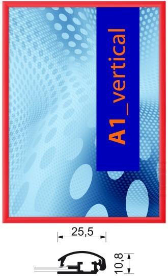 Aluminium-Klapprahmen 25 mm farbig