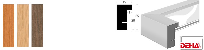 Holz-Bilderrahmen Profil A25 Edelhölzer (DEHA)
