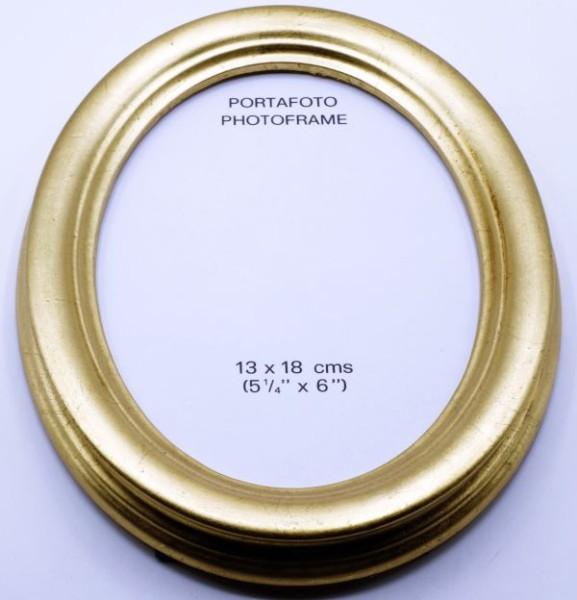 Ovalrahmen Gold