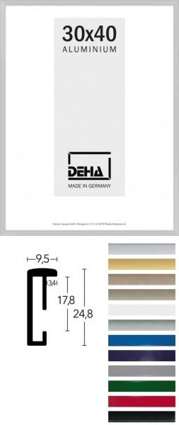 Alu-Bilderrahmen DEHA 5 - viele Größen, Farben, Glassorten