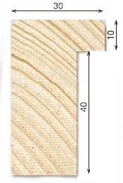 Holz-Bilderrahmen Galerie G30/P4 für Keilrahmen