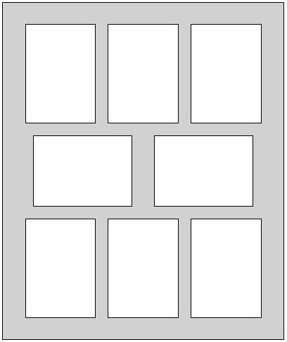 Fertig Passepartout 30 x 40 cm auf 20 x 30 cm  dunkelblau