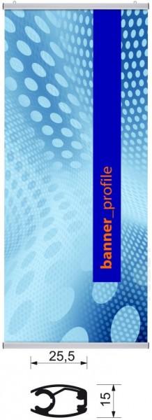 Aluminium-Klemmleisten-Set Banner Profile für Stoffbanner