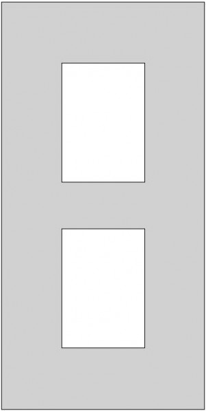 Galerie-Passepartout - Außenformat 50 x 100 cm