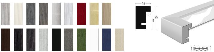 Holz-Bilderrahmen Quadrum 16x25 (Nielsen)