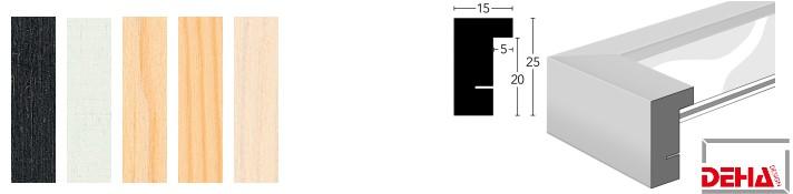 Holz-Bilderrahmen Profil A25 (DEHA)