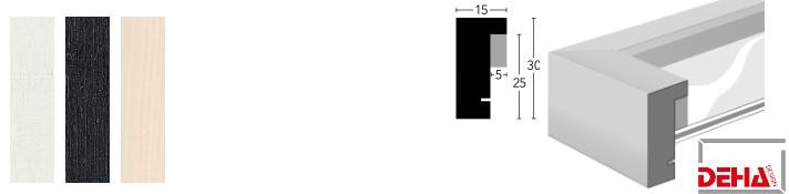 Holz-Bilderrahmen Profil A30 (DEHA)
