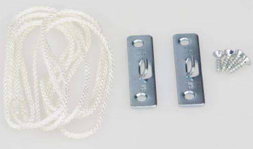 Bildaufhänger Seilaufhängung für Bilderrahmen klein 2x2 Schrauben