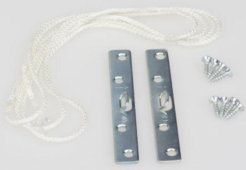 Bildaufhänger Seilaufhängung für Bilderrahmen groß 4x2 Schrauben