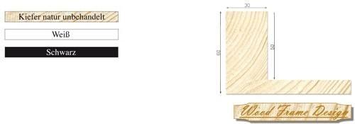 Holz-Schattenfugenrahmen P45/30 (Wood Frame Design)