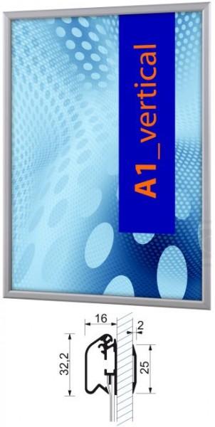 Aluminium-Klapprahmen 32 mm für Fensterscheibe