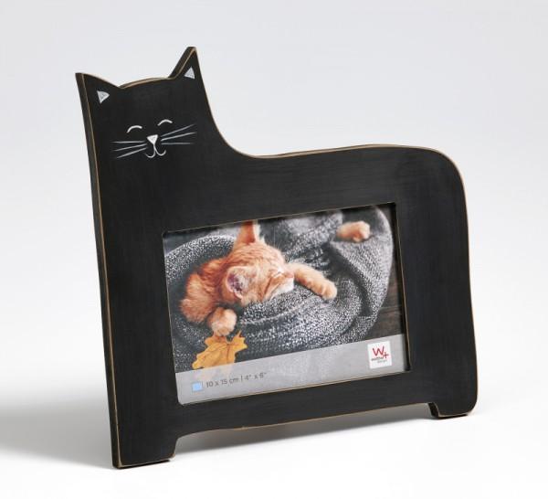 Portraitrahmen Katze, schwarz