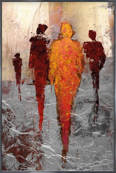 Abstract Figures Red - Gerahmtes Bild mit Alurahmen ALPHA