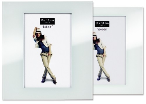 Portraitrahmen weiß – Glas