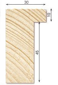Holz-Bilderrahmen Galerie G30/P45 für Keilrahmen