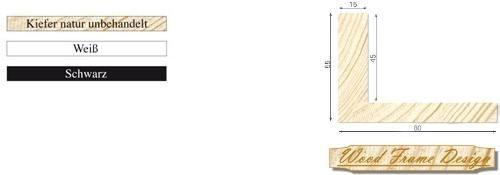 Holz-Schattenfugenrahmen P4/15 (Wood Frame Design)