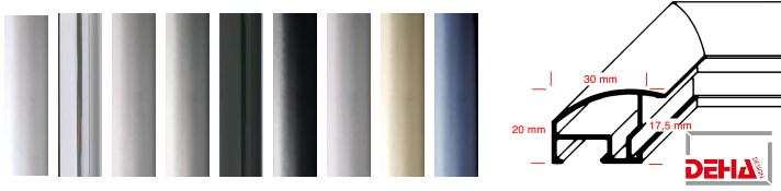 Aluminium-Bilderrahmen Profil 35 (Deha)