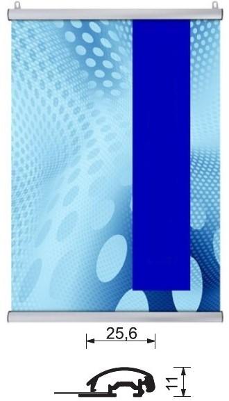 Aluminium-Klemmleisten-Set Postersnapper für Poster