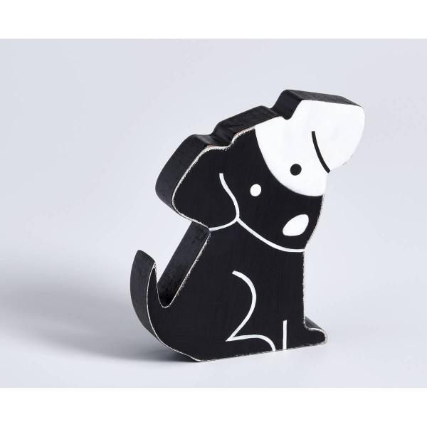 Dekofigur Hund, schwarz