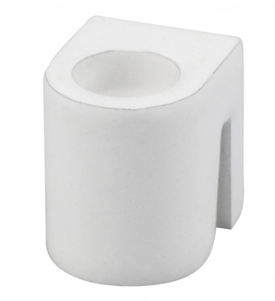 Zylinderhaken weiß für Perlonseil mit Gleiter