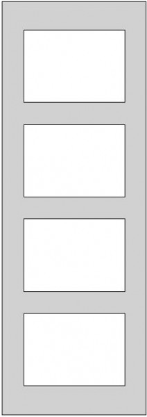 Galerie-Passepartout - Außenformat 35 x 100 cm
