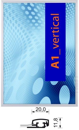 Aluminium-Klapprahmen 20 mm mit Sicherheitsverschluß
